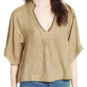 Free People 'Get Over It' Boho Shirt Blouse